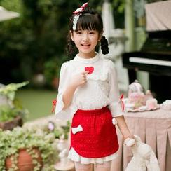 Candy Rain - Kids Woolen A-Line Skirt