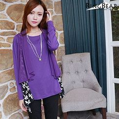 RingBear - Chiffon Long-Sleeve Top