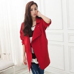CUTIE FASHION - Wide-Collar Trench Coat
