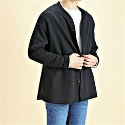THE COVER - Button-Front Cotton Cardigan