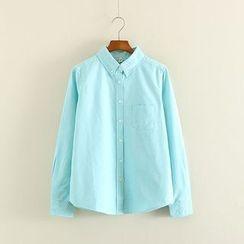 Mushi - Plain Oxford Shirt