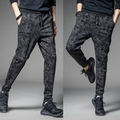 Bay Go Mall - Drawstring Camo Pants