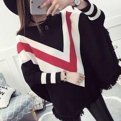 efolin - Batwing-Sleeve Chunky Sweater