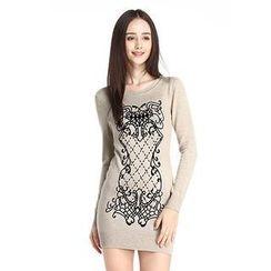 O.SA - Patterned Knit Dress