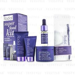 Rodial - Stemcell Super-Food Kit: Cleanser 50ml + Day Cream 20ml + Glam Balm Multi 10ml + Facial Oil 10ml + Cleansing Cloth