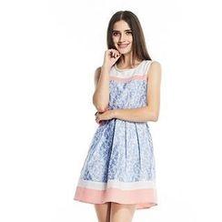 O.SA - Jacquard Sleeveless Dress