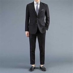 THE COVER - Set: Wool Blend Blazer + Tapered Dress Pants