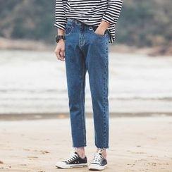 Flambeau - Letter Fray Jeans