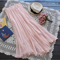 Flower Idea - Maxi Chiffon Skirt