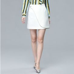 Sentubila - Wrap Front A-Line Skirt