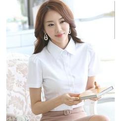 KOKA - Short-Sleeve Chiffon Shirt