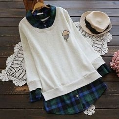 YOYO - Mock Two-Piece Fleece-Lined Pullover