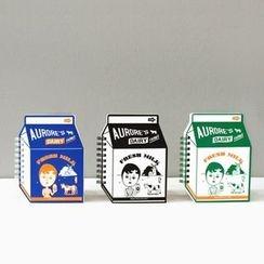 Full House - 牛奶盒圖案筆記本