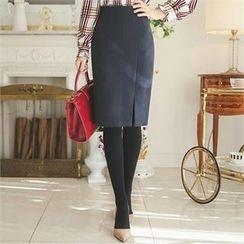 ode' - Slit-Front Pencil Skirt