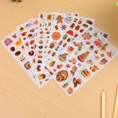 Tivi Boutique - 六件套: 食物贴纸