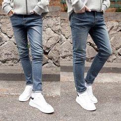 TOMONARI - Washed Slim-Fit Jeans
