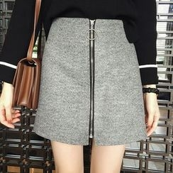 Little V - Zip Front A-Line Skirt