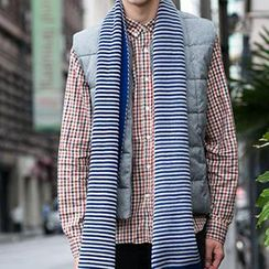 Thantrue - Striped Knit Scarf