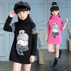 Pegasus - Kids Long-Sleeve Printed Dress