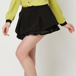 O.SA - Pleated Layered Skort