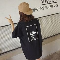 OCTALE - Elbow-Sleeve Print T-Shirt