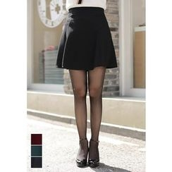 MyFiona - Band-Waist A-Line Mini Skirt