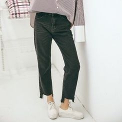 MOJIN - Cropped Straight-Leg Jeans