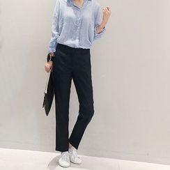 NANING9 - Pocket-Side Tapered Dress Pants
