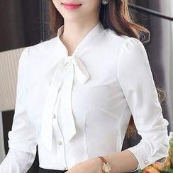 Eferu - 領結帶雪紡襯衫