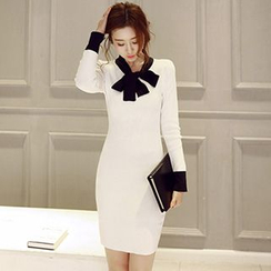 Romantica - Tie-Neck Sheath Dress