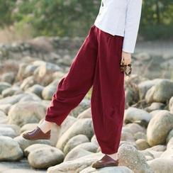 Diosa - Linen-blend Yoga Pants