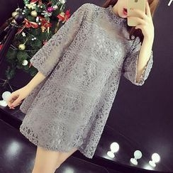 Cheer Mom - Lace Maternity Tunic with Slipdress
