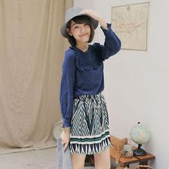 Tokyo Fashion - Linen-blend Frill Trim Top