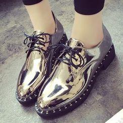 Sidewalk - 亮面系带鞋