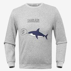 uninukoo - Shark Print Hoodie