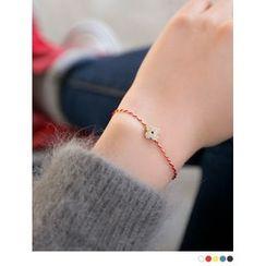 PINKROCKET - Rhinestone Clover Bracelet