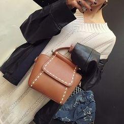 薇薇 - 缝线装饰单肩包