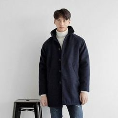 Seoul Homme - Pocket-Side Single-Breasted Coat
