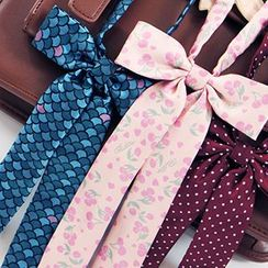 Rega - Patterned Ribbon Bow Tie
