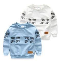 貝殼童裝 - 兒童大象印花套衫