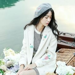 Garden Party - Embroidered Button Coat