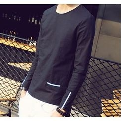 Bestrooy - Striped Long Sleeve T-Shirt