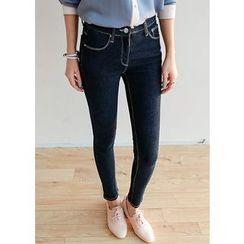 J-ANN - Stitched Skinny Jeans