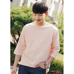 JOGUNSHOP - 3/4-Sleeve Colored T-Shirt