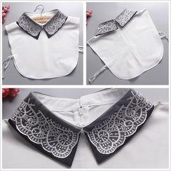 Debii - Lace-Trim Decorative Collar