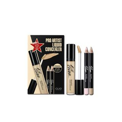 CLIO - Pro Artist Liquid Concealer Special Set: Concealer 7.5g + Pencil Concealer 1pc + Pencil Brighter 1pc