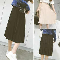 QZ Lady - Pleated Midi Skirt