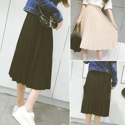 QZ Lady - Pleated Midi Skirt