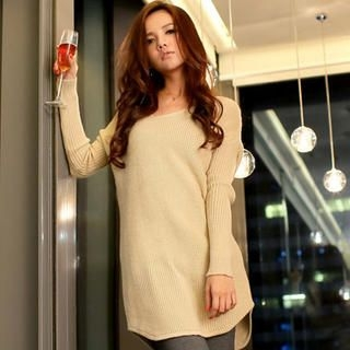 Tokyo Fashion - V-Neck Sweater Dress