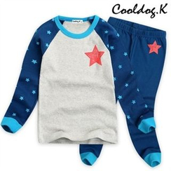 WALTON kids - Kids Pajama Set: Star Print Top + Pants
